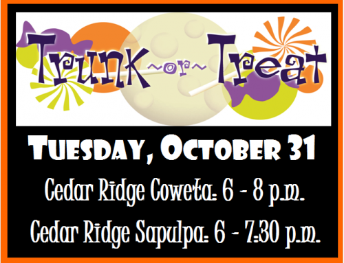 Trunk or Treat – October 31