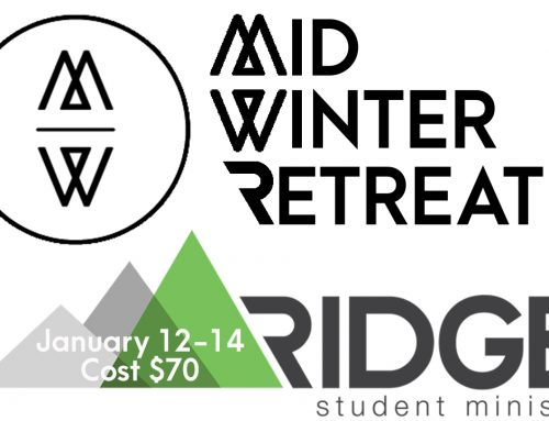 High School Mid-Winter Retreat January 12-14, 2018