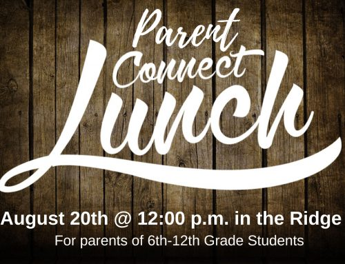 """Parent Connect Lunch"" Student Ministry – BA Campus"