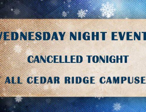 Wednesday Night Cancelled Tonight