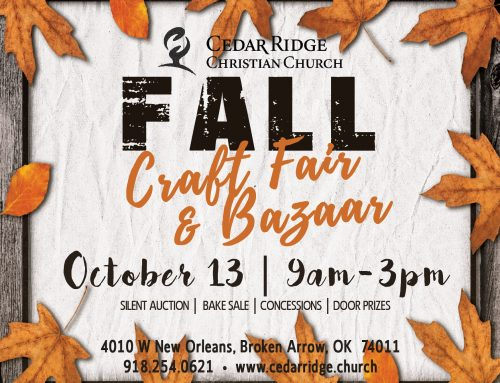 Craft Fair & Bazaar – October 13