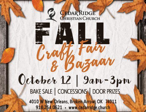 Craft Fair & Bazaar – October 12
