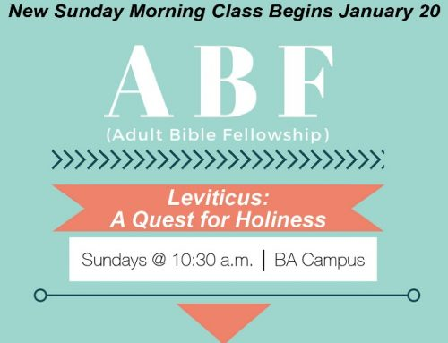 New Sunday Morning ABF Begins January 20 – BA Campus