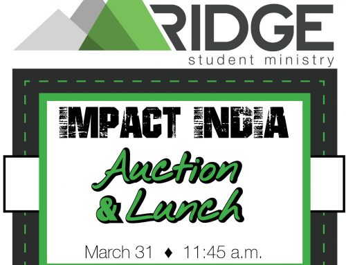 Impact India – Lunch and Auction March 31