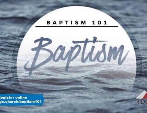 Baptism 101 Class – October 4