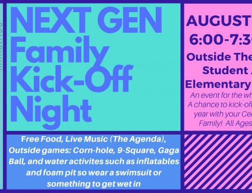 Next Gen Family Kick-Off Night – August 28