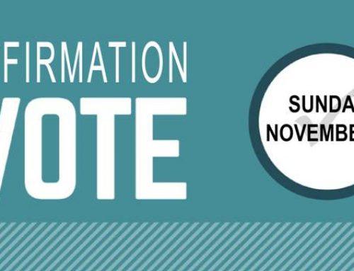 Elder/Deacon Affirmation Vote November 7