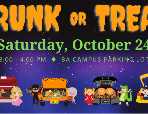 Trunk or Treat at the BA Campus – October 24