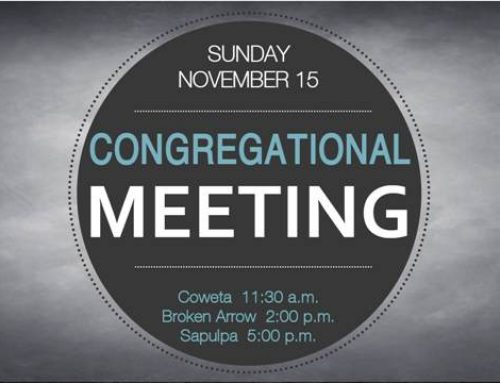 Congregational Meeting – November 15