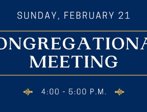 Congregational Meeting – February 21