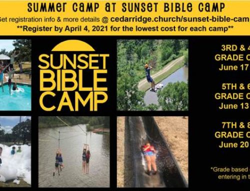 2021 Sunset Bible Camp – Register Now!