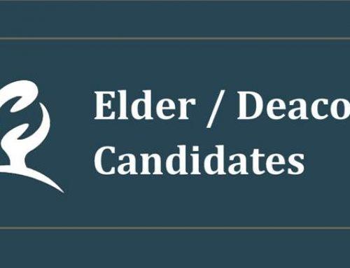 Elder / Deacon Candidates